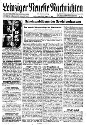 Leipziger neueste Nachrichten und Handelszeitung  vom 03.02.1944