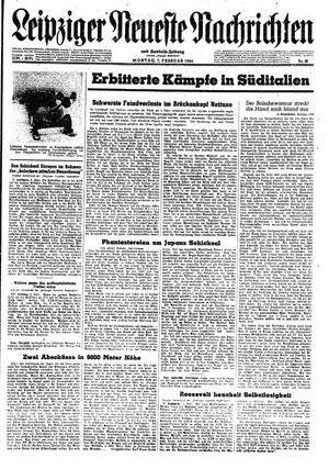 Leipziger neueste Nachrichten und Handelszeitung  vom 07.02.1944