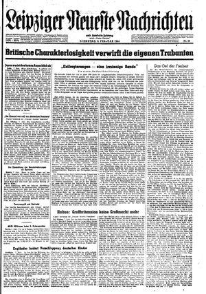 Leipziger neueste Nachrichten und Handelszeitung  vom 08.02.1944