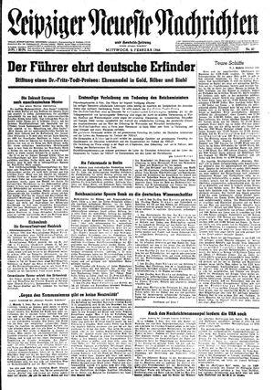 Leipziger neueste Nachrichten und Handelszeitung  vom 09.02.1944
