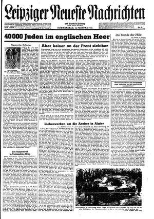 Leipziger neueste Nachrichten und Handelszeitung  vom 10.02.1944