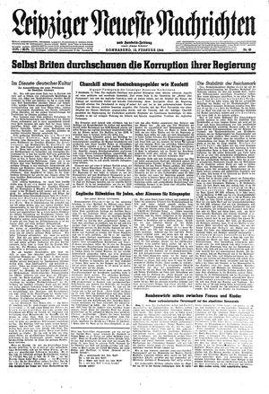 Leipziger neueste Nachrichten und Handelszeitung  vom 12.02.1944
