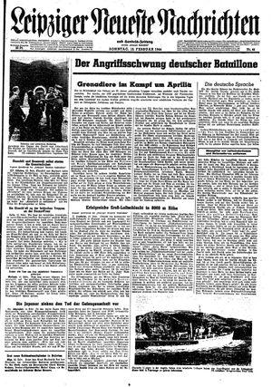 Leipziger neueste Nachrichten und Handelszeitung  vom 13.02.1944