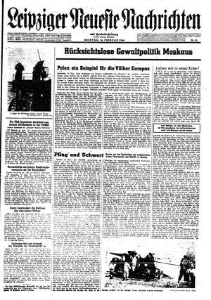 Leipziger neueste Nachrichten und Handelszeitung  vom 14.02.1944
