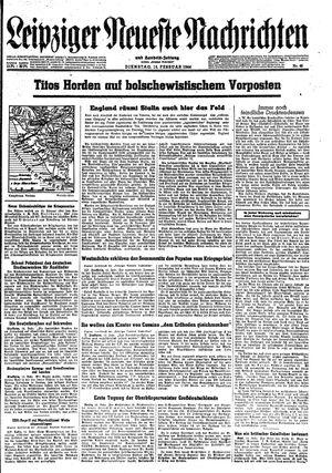 Leipziger neueste Nachrichten und Handelszeitung  vom 15.02.1944