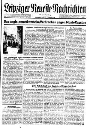 Leipziger neueste Nachrichten und Handelszeitung  vom 17.02.1944