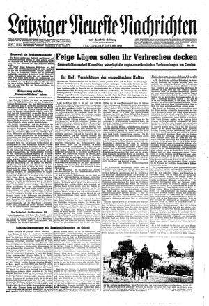 Leipziger neueste Nachrichten und Handelszeitung  vom 18.02.1944