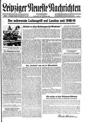 Leipziger neueste Nachrichten und Handelszeitung  vom 20.02.1944