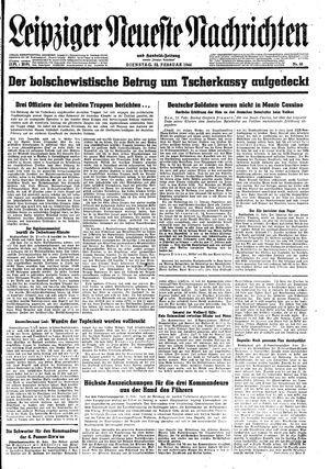 Leipziger neueste Nachrichten und Handelszeitung  vom 22.02.1944
