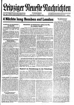 Leipziger neueste Nachrichten und Handelszeitung  vom 25.02.1944