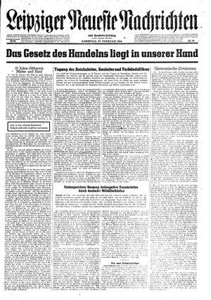 Leipziger neueste Nachrichten und Handelszeitung  vom 27.02.1944