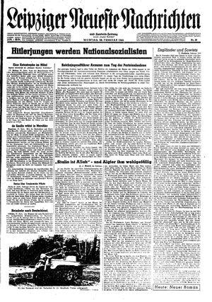 Leipziger neueste Nachrichten und Handelszeitung  vom 28.02.1944