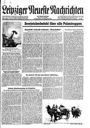 Leipziger neueste Nachrichten und Handelszeitung  vom 29.02.1944