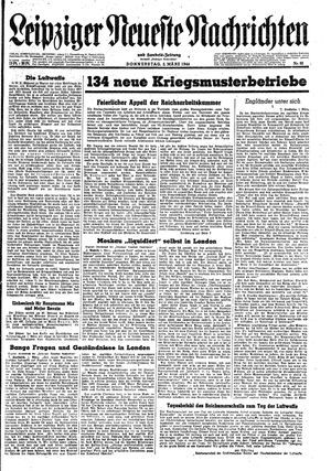 Leipziger neueste Nachrichten und Handelszeitung  vom 02.03.1944
