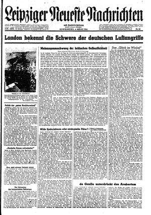 Leipziger neueste Nachrichten und Handelszeitung  vom 04.03.1944