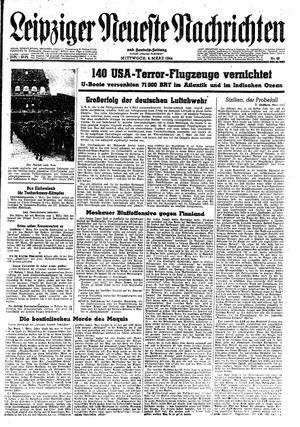 Leipziger neueste Nachrichten und Handelszeitung  vom 08.03.1944