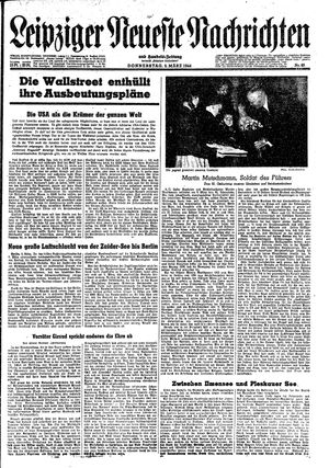 Leipziger neueste Nachrichten und Handelszeitung  vom 09.03.1944