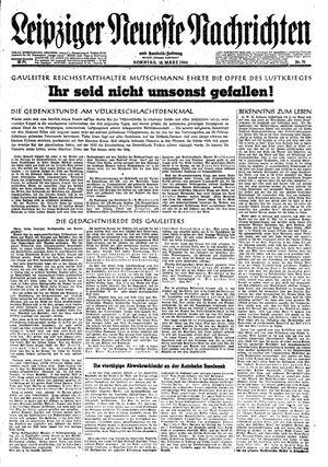 Leipziger neueste Nachrichten und Handelszeitung  vom 12.03.1944