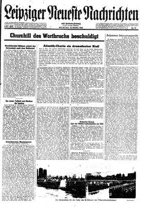 Leipziger neueste Nachrichten und Handelszeitung  vom 13.03.1944