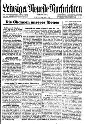 Leipziger neueste Nachrichten und Handelszeitung  vom 15.03.1944