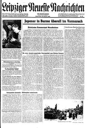 Leipziger neueste Nachrichten und Handelszeitung  vom 24.03.1944