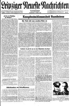 Leipziger neueste Nachrichten und Handelszeitung  vom 02.04.1944