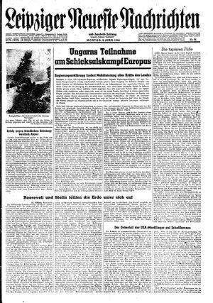 Leipziger neueste Nachrichten und Handelszeitung  vom 03.04.1944