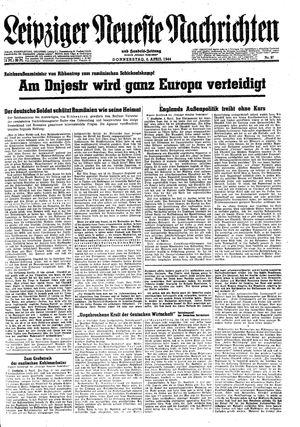 Leipziger neueste Nachrichten und Handelszeitung  vom 06.04.1944