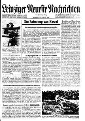Leipziger neueste Nachrichten und Handelszeitung  vom 08.04.1944