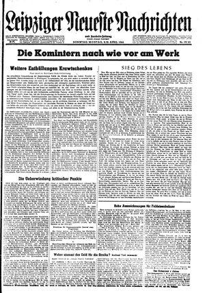 Leipziger neueste Nachrichten und Handelszeitung  vom 09.04.1944