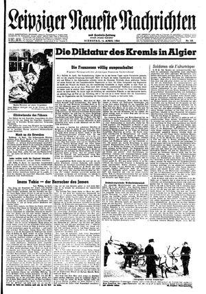 Leipziger neueste Nachrichten und Handelszeitung  vom 11.04.1944