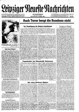 Leipziger neueste Nachrichten und Handelszeitung  vom 12.04.1944