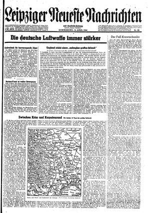 Leipziger neueste Nachrichten und Handelszeitung  vom 15.04.1944