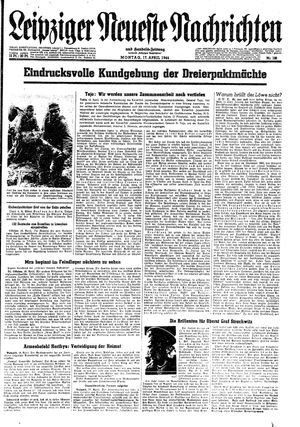 Leipziger neueste Nachrichten und Handelszeitung  vom 17.04.1944