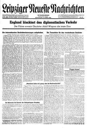Leipziger neueste Nachrichten und Handelszeitung  vom 19.04.1944