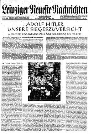 Leipziger neueste Nachrichten und Handelszeitung  on Apr 20, 1944