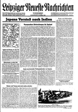 Leipziger neueste Nachrichten und Handelszeitung  vom 22.04.1944