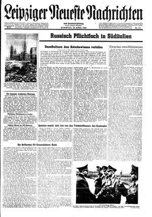 Leipziger neueste Nachrichten und Handelszeitung  vom 23.04.1944