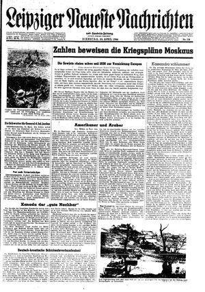 Leipziger neueste Nachrichten und Handelszeitung  on Apr 25, 1944
