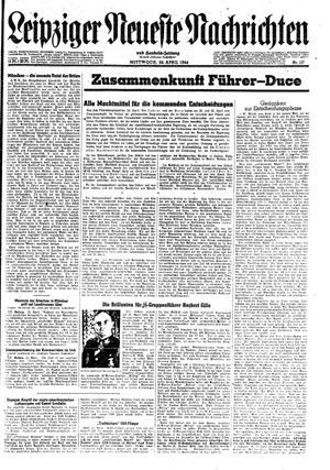 Leipziger neueste Nachrichten und Handelszeitung  vom 26.04.1944