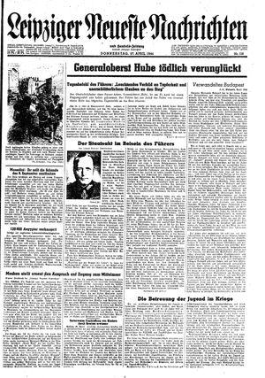 Leipziger neueste Nachrichten und Handelszeitung  vom 27.04.1944