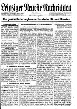 Leipziger neueste Nachrichten und Handelszeitung  on May 4, 1944
