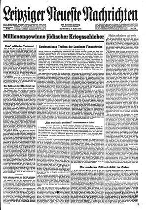 Leipziger neueste Nachrichten und Handelszeitung  vom 07.05.1944