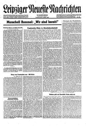 Leipziger neueste Nachrichten und Handelszeitung  vom 09.05.1944