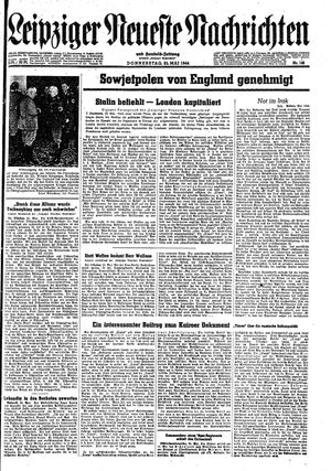 Leipziger neueste Nachrichten und Handelszeitung  vom 25.05.1944