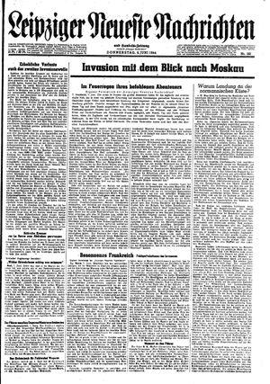 Leipziger neueste Nachrichten und Handelszeitung  vom 08.06.1944