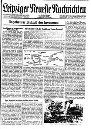 Leipziger neueste Nachrichten und Handelszeitung  vom 11.06.1944