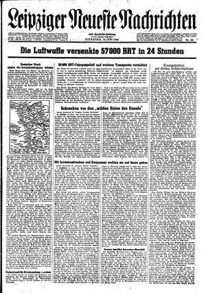 Leipziger neueste Nachrichten und Handelszeitung  vom 13.06.1944