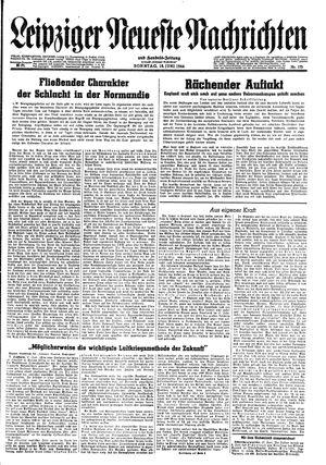 Leipziger neueste Nachrichten und Handelszeitung  vom 18.06.1944
