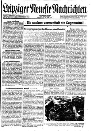 Leipziger neueste Nachrichten und Handelszeitung  vom 20.06.1944